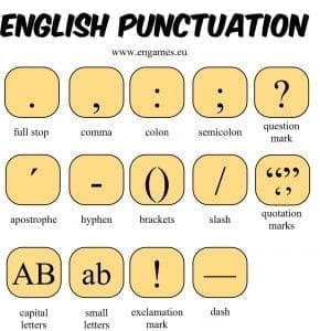 English punctuation 1 290x300 - Punctuation for IELTS