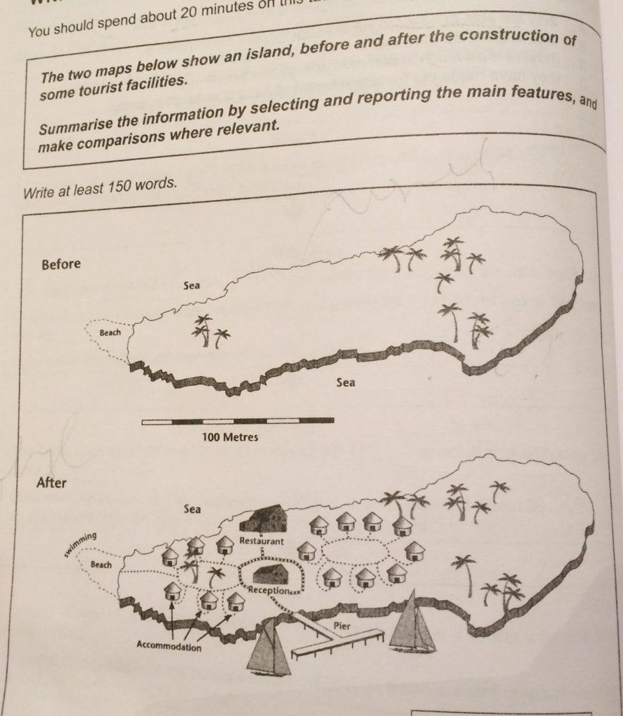 IELTS Academic Writing Task 1 (Map) & Band 9 Model Sample