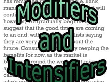 Modifiers and Intensifiers for Reading Skills