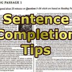 Sentence Completion Tips for IELTS Reading