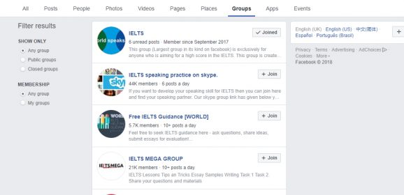 The Best Facebook Groups for IELTS