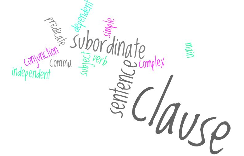Subordinate Clause Word Cloud m6jxsd - Essential IELTS Grammar: Sentence Types