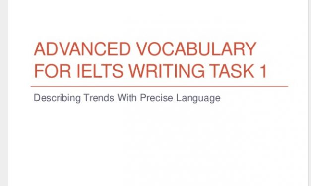 How to Use More Advanced Vocabulary for Task 1 [IELTS Writing]