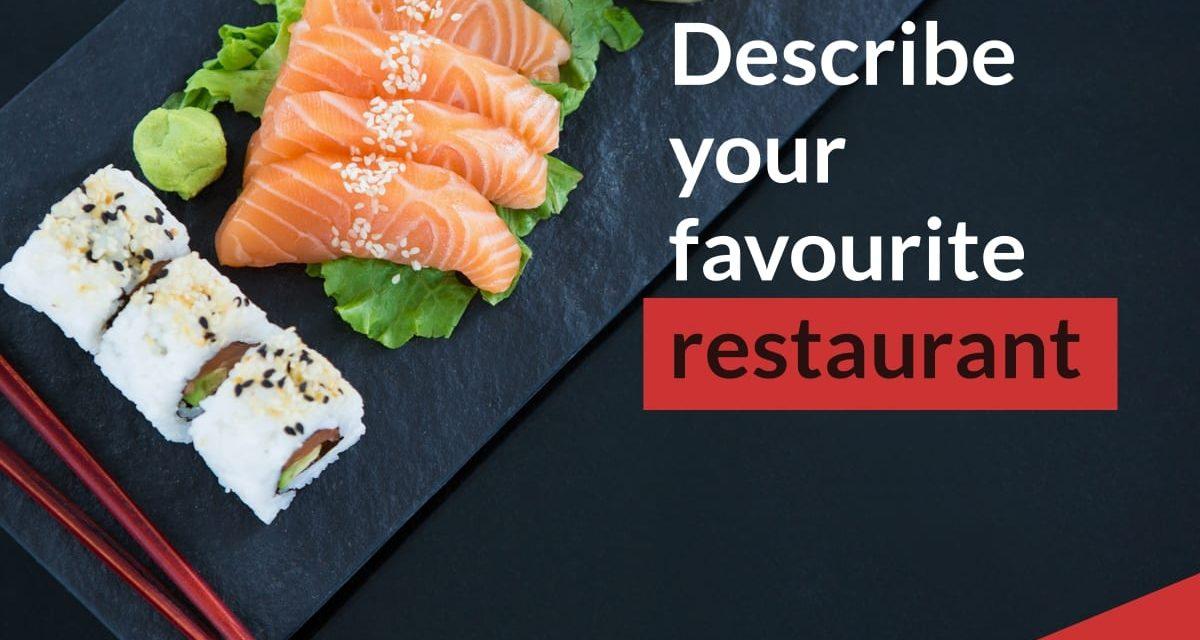 Describe a Restaurant [IELTS Speaking Part 2]