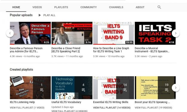 YouTube Videos about IELTS Writing