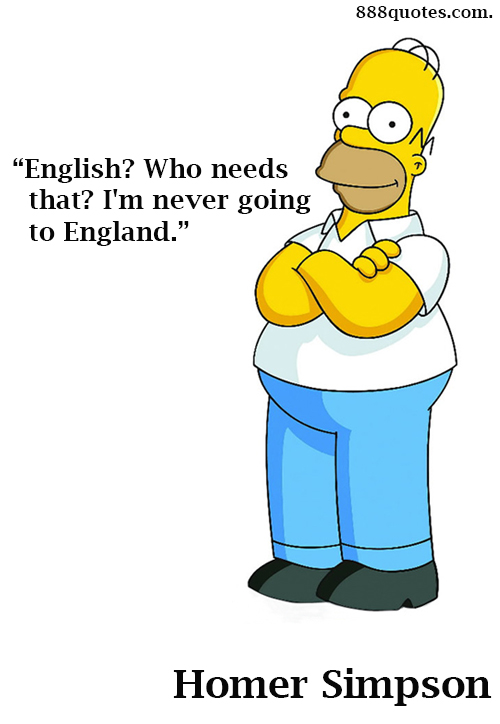 homer on learning english