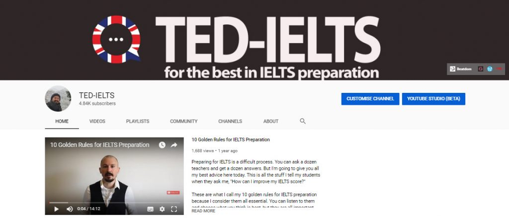 ielts youtube channel