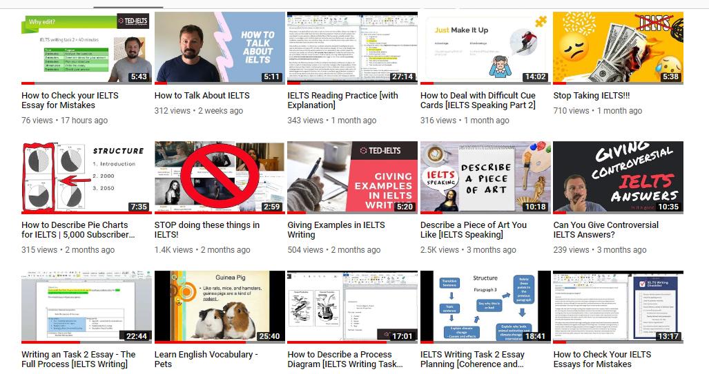Recent Videos About IELTS