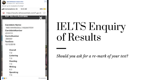 Should You Request a Re-mark for IELTS?