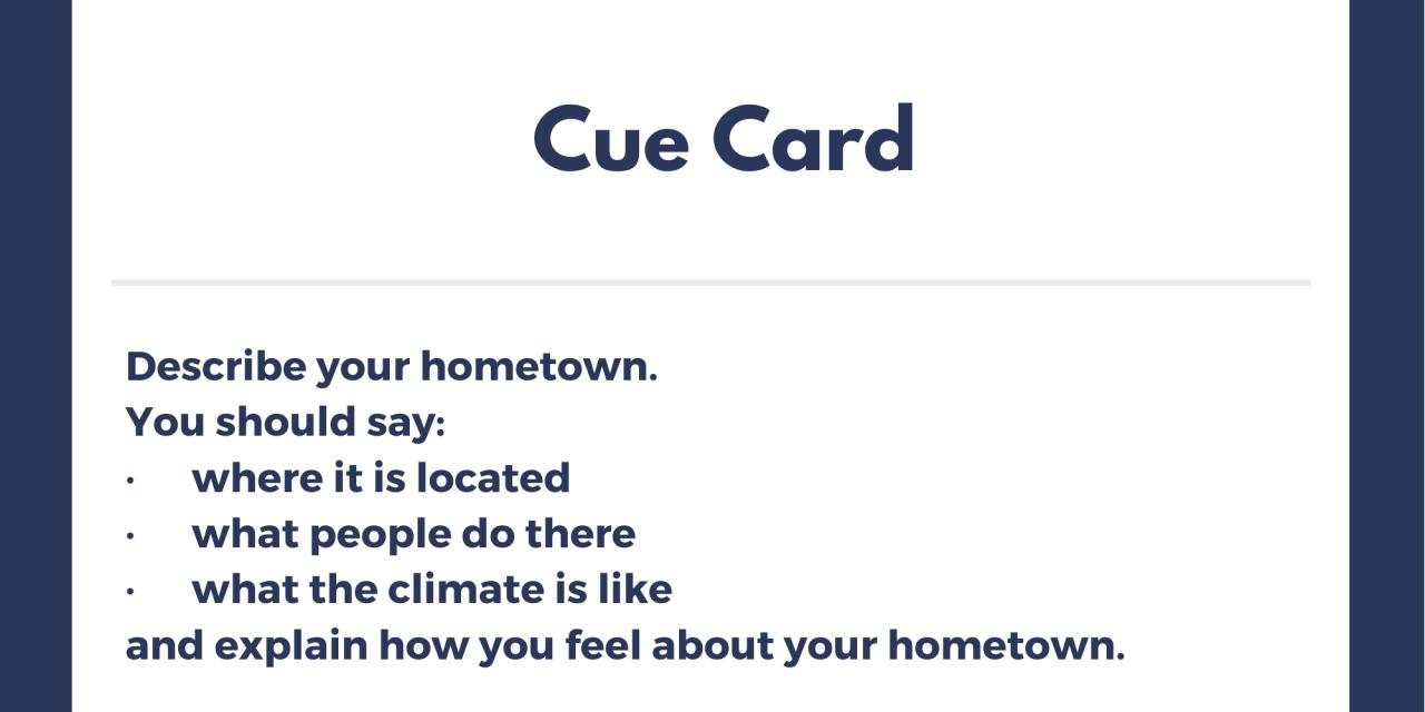 Describe your Hometown [IELTS Cue Card]