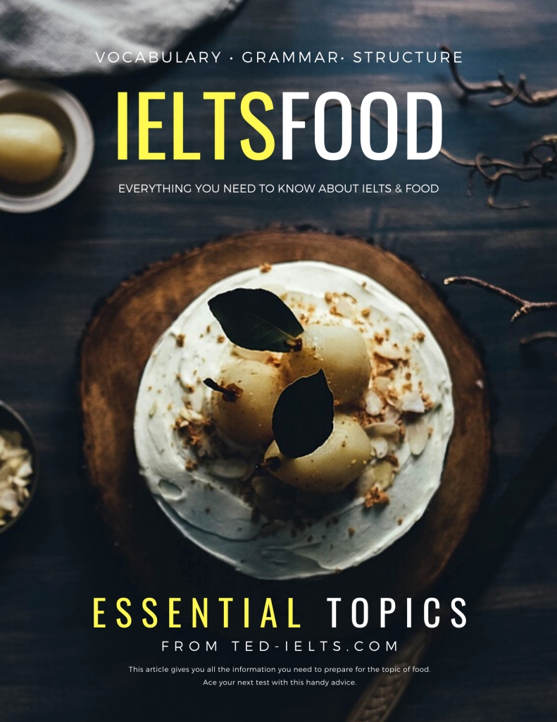 ielts topics - food