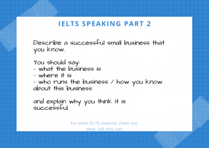 Blue Checkered Note with Tape Retirement Card 300x213 - Describe a Business [IELTS Speaking Part 2]