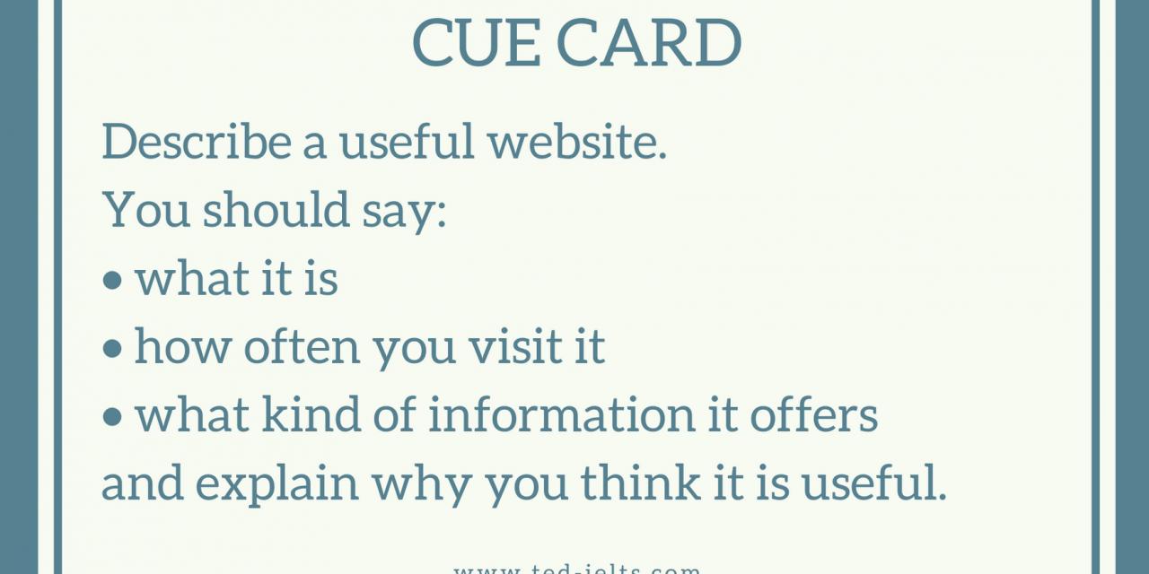 Describe a Website [IELTS Speaking Part 2]