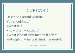 cue card 300x213 - Describe a Website [IELTS Speaking Part 2]