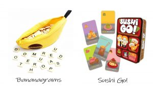 bananagrams vs sushi go 300x169 - Describe an Indoor Game [IELTS Cue Card]