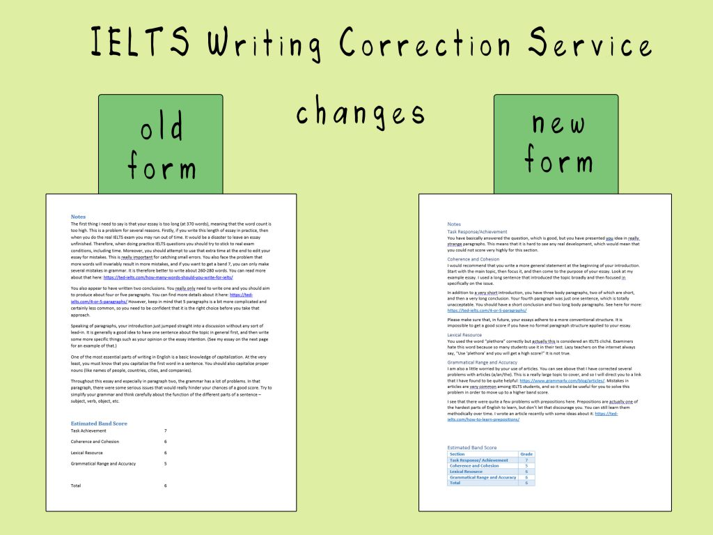 old and new writing correction service 1024x768 - Few vs A Few vs Some