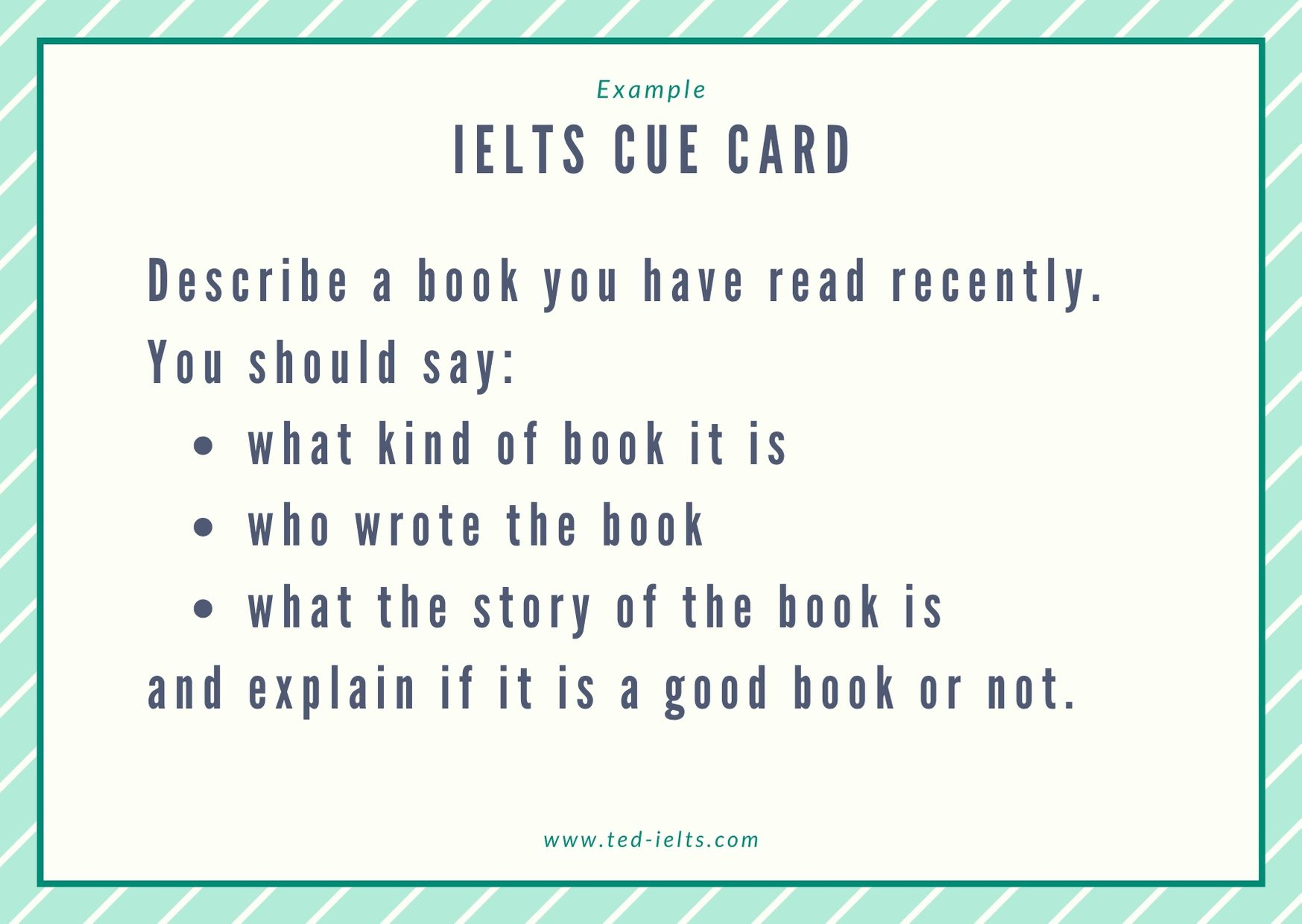 describe a book you have read recently [ielts speaking]