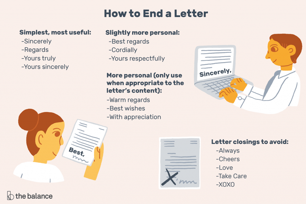 how to end a letter
