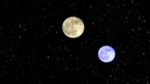 two moons in the sky