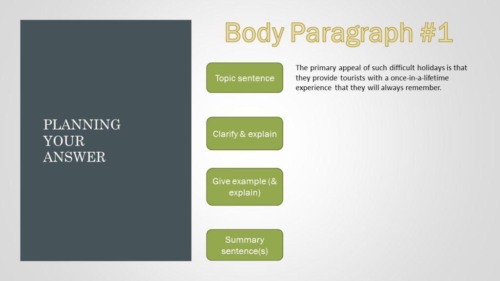 internal paragraph structure