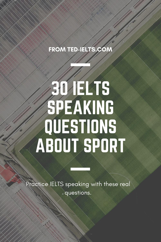 ielts speaking questions about sport