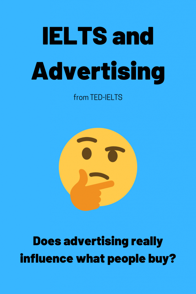 advertisements and ielts