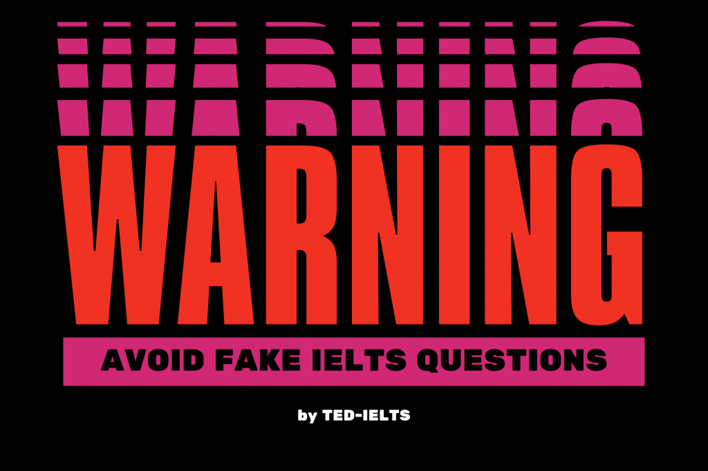 avoid fake ielts questions