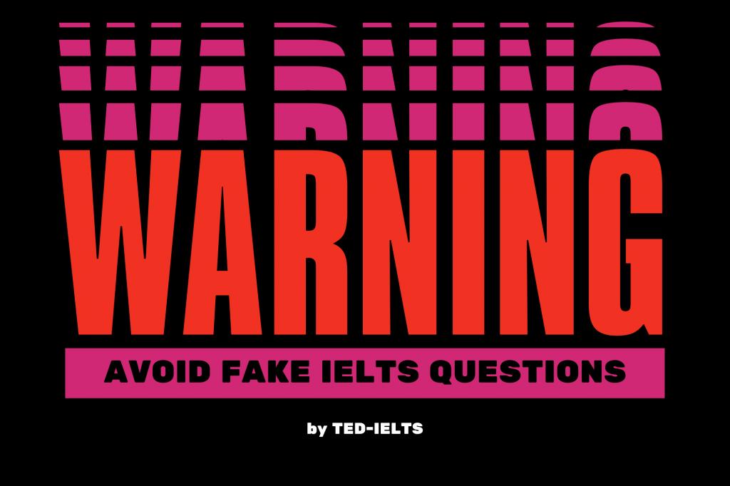 avoid fake ielts questions