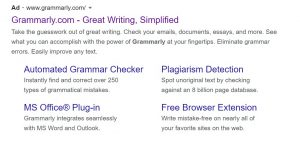 grammarly google ads