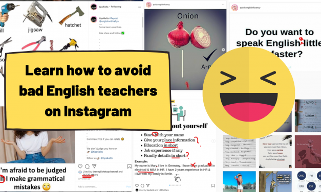 The Problem with Learning English on Instagram