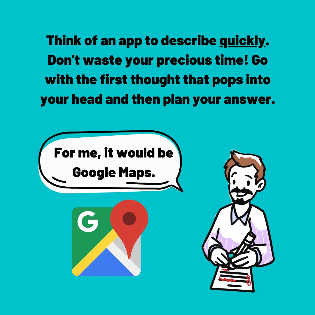 describe an app - google maps