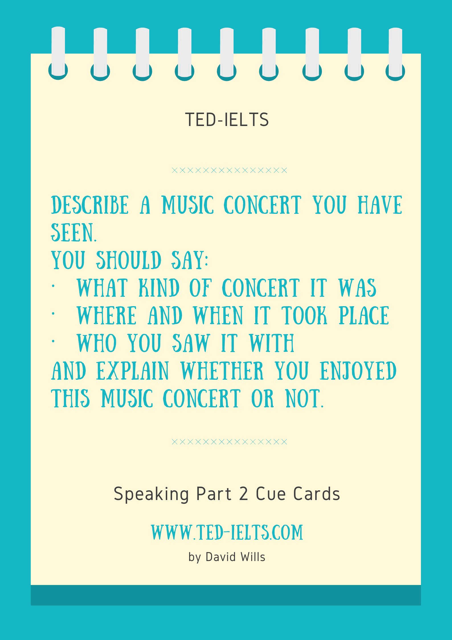 describe a concert for ielts