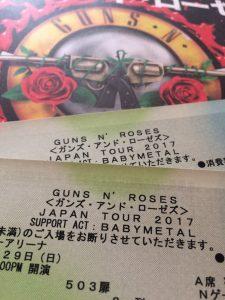 guns 'n' roses tokyo concert