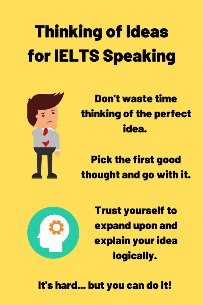how to think of answers for ielts speaking