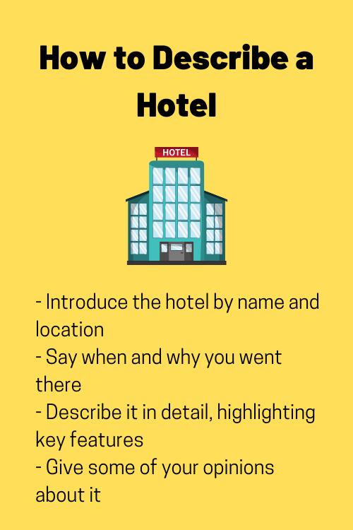 how to describe a hotel