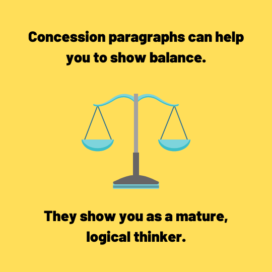 the benefits of a concession paragraph