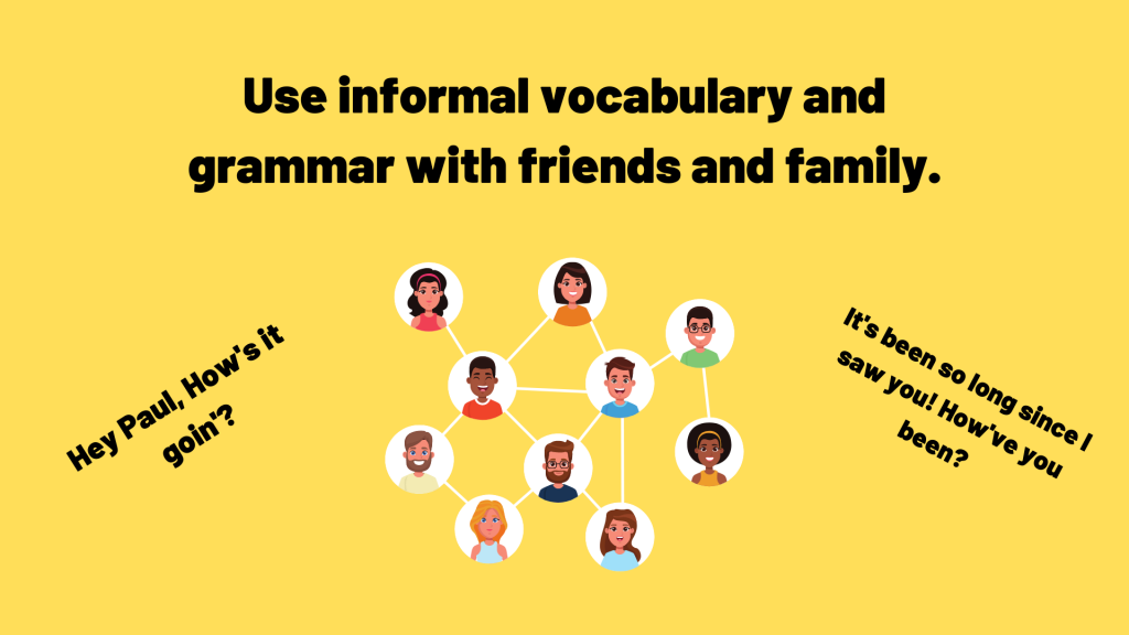 when to use informal language