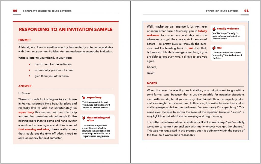 example from ielts letters book