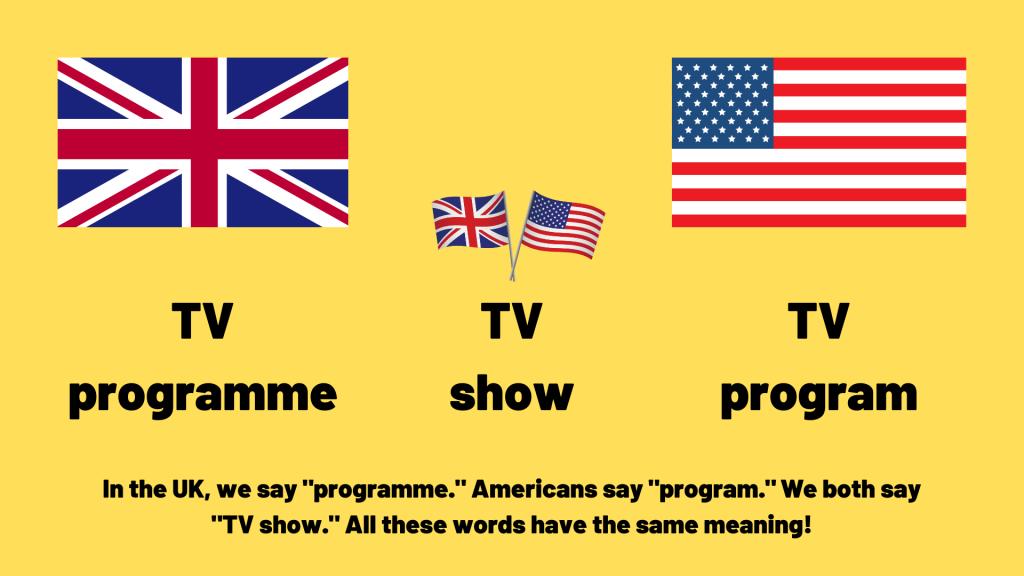 programme vs program vs show