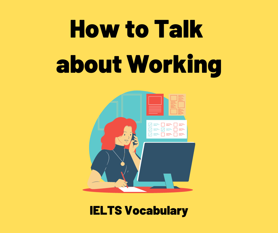 ielts vocabulary about working